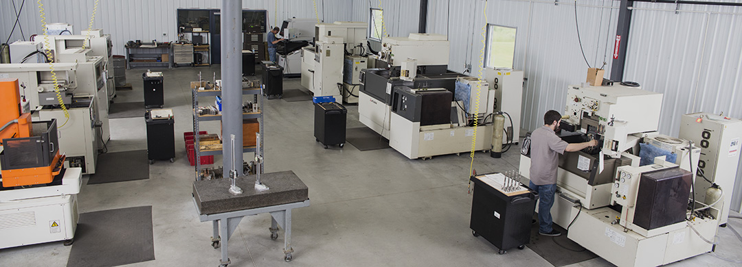 Wire EDM Department has 7 Wire EDM Machines, 2 EDM Drills and a 3-axis CNC machine for pre and post processing.